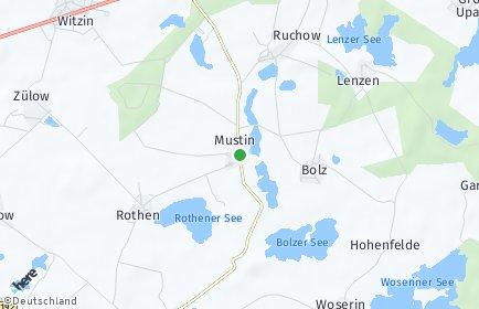 Stadtplan Mustin (Mecklenburg)