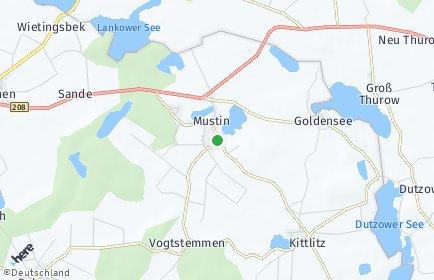 Stadtplan Mustin bei Ratzeburg