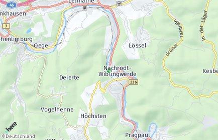 Stadtplan Nachrodt-Wiblingwerde