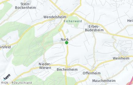 Stadtplan Nack