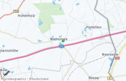 Stadtplan Nadrensee