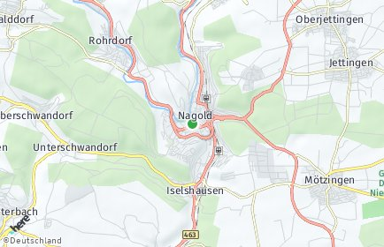 Stadtplan Nagold