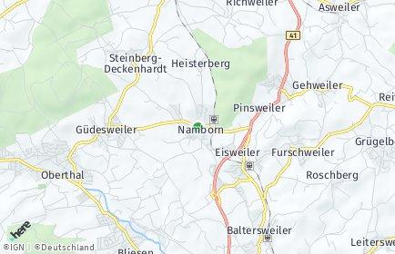 Stadtplan Namborn