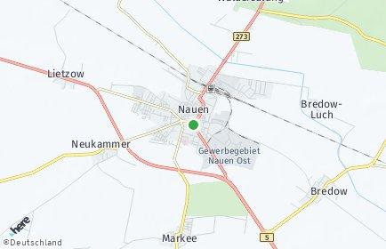 Stadtplan Nauen OT Bergerdamm