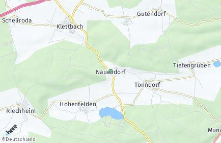 Stadtplan Nauendorf (Thüringen)