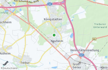 Stadtplan Nauheim