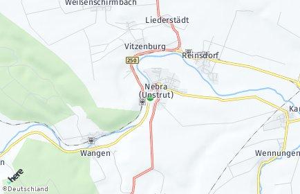 Stadtplan Nebra (Unstrut)