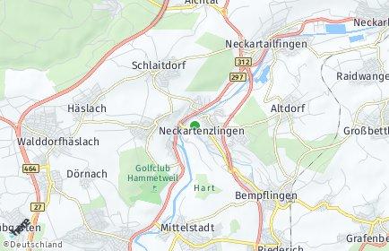 Stadtplan Neckartenzlingen