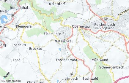 Stadtplan Netzschkau