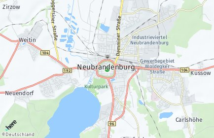 Stadtplan Neubrandenburg OT Brauereiviertel
