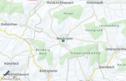 Stadtplan Neubrunn (Unterfranken) OT Böttigheim