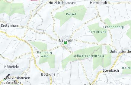 Stadtplan Neubrunn (Unterfranken)