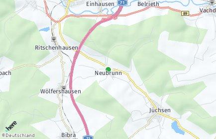 Stadtplan Neubrunn (Thüringen)