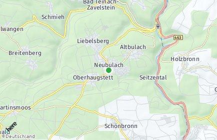 Stadtplan Neubulach