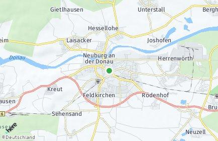 Stadtplan Neuburg an der Donau