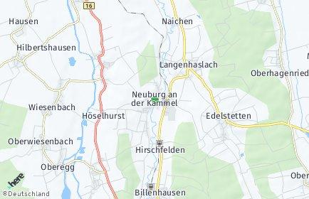 Stadtplan Neuburg an der Kammel