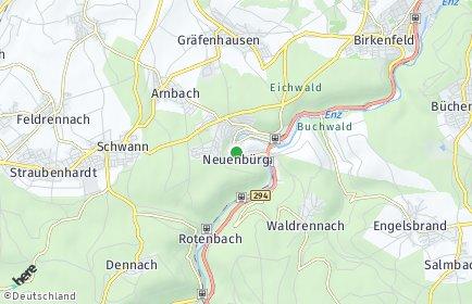 Stadtplan Neuenbürg