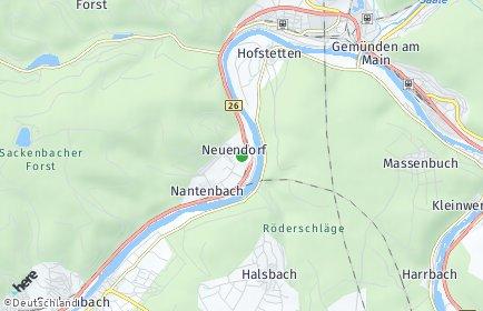 Stadtplan Neuendorf (Unterfranken)
