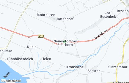 Stadtplan Neuendorf bei Elmshorn