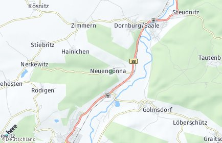 Stadtplan Neuengönna