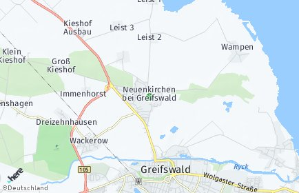 Stadtplan Neuenkirchen bei Greifswald