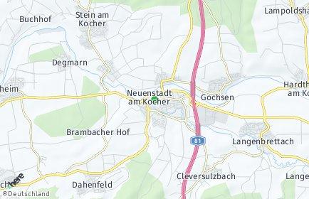 Stadtplan Neuenstadt am Kocher