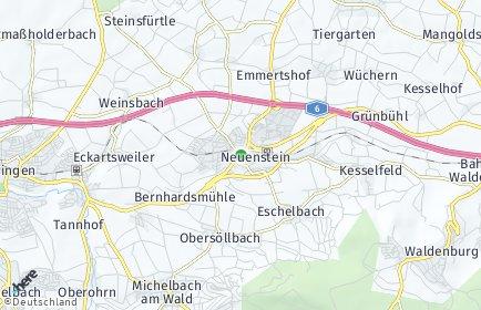 Stadtplan Neuenstein (Hohenlohe) OT Neuenstein