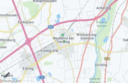 Stadtplan Neufahrn bei Freising OT Neufahrn