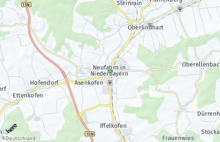 Stadtplan Neufahrn in Niederbayern