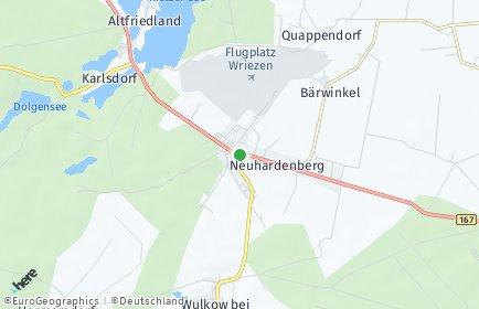 Stadtplan Neuhardenberg