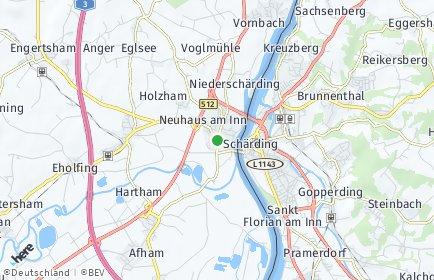Stadtplan Neuhaus am Inn