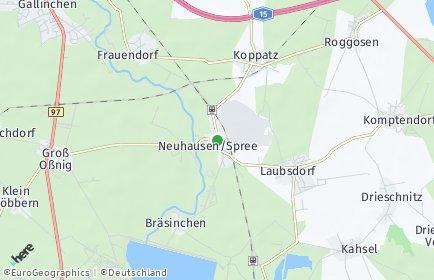 Stadtplan Neuhausen/Spree
