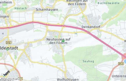 Stadtplan Neuhausen auf den Fildern