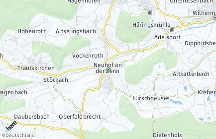 Stadtplan Neuhof an der Zenn