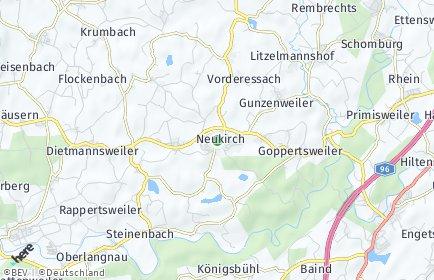 Stadtplan Neukirch bei Tettnang