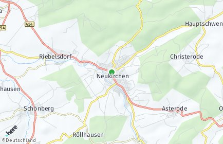 Stadtplan Neukirchen (Knüll) OT Rückershausen
