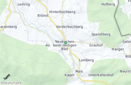 Stadtplan Neukirchen beim Heiligen Blut OT Grauhof