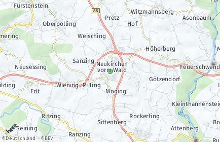 Stadtplan Neukirchen vorm Wald