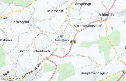 Stadtplan Neumark (Vogtland)
