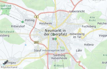 Stadtplan Neumarkt in der Oberpfalz
