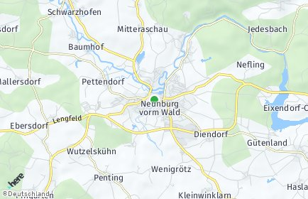 Stadtplan Neunburg vorm Wald