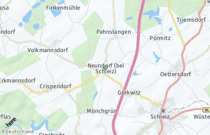 Stadtplan Neundorf (bei Schleiz)