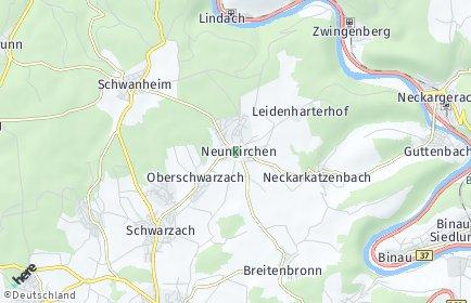 Stadtplan Neunkirchen (Baden)