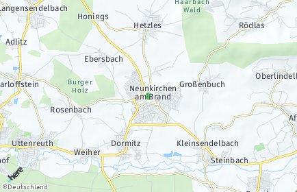 Stadtplan Neunkirchen am Brand