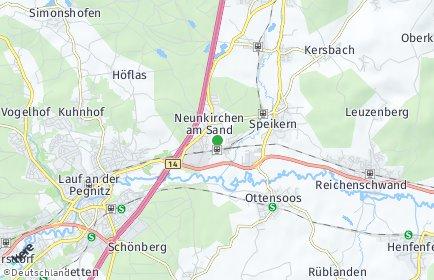 Stadtplan Neunkirchen am Sand