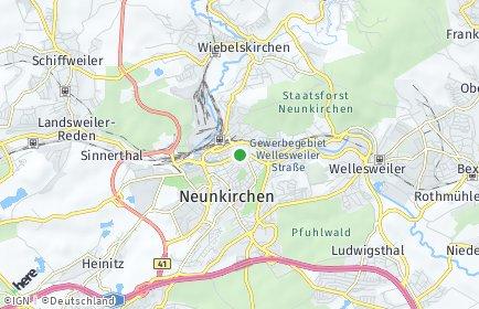 Stadtplan Neunkirchen (Saar) OT Hangard