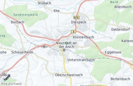 Stadtplan Neustadt an der Aisch
