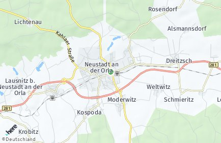 Stadtplan Linda bei Neustadt an der Orla
