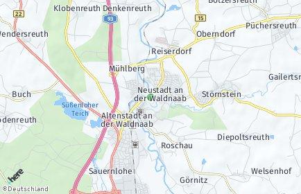 Stadtplan Neustadt an der Waldnaab