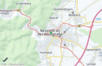 Stadtplan Neustadt an der Weinstraße